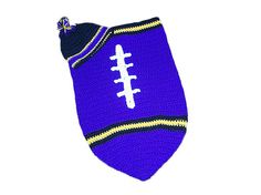 Baltimore Ravens Baby Football Cocoon & Hat (Newborn to 3 months) on Etsy, $36.00