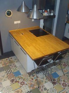 Patchwork de suelo hidráuico en cocina