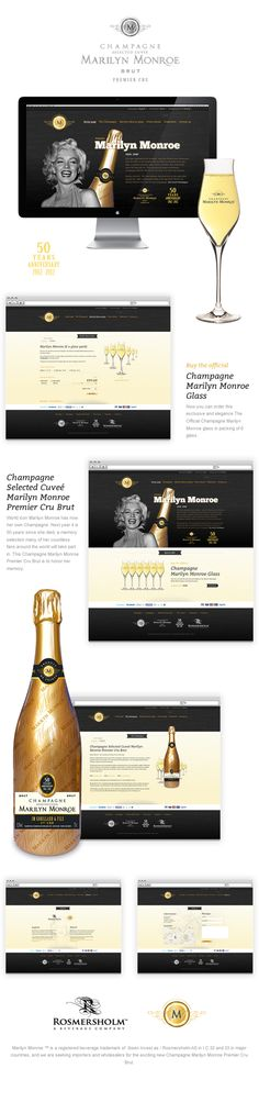 Champagne Marilyn Monroe by Designer Passion , via Behance