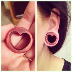 These heart plugs are quite lovely. <3