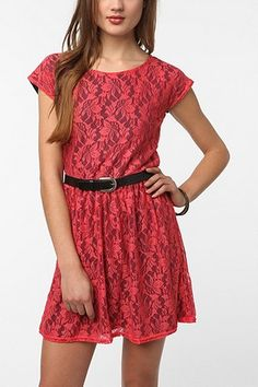 UrbanOutfitters.com > Urban Renewal Lace & Jersey Gibson Dress
