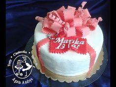 TORTY * CIASTECZKA * BABECZKI - AGATA ANDRYS: TORT PREZENT Z OZDOBNĄ KOKARDĄ gift present cake with decorate nice bow