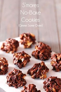 S'mores No-Bake Cookies | gimmesomeoven.com