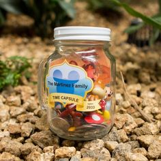 Love this idea!...Mason jars. Disney souvenir mason jar