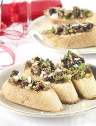 Bruschetta aux champignons des bois - Recept » Colruyt Culinair