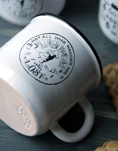 Handmade Pottery Pseudo-Enamel Moomin Cup by GreenVikingSpb Tove Jansson, Moomin, Job Opening, Handmade Pottery, Wander, Enamel, Mens Fashion, Tea, Mugs