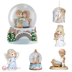 Precious Moments christmas edition - Tree topers, tree ornaments, snow globes and figurines - all beautifully detailed for the christmas season