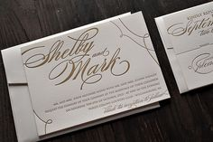 Gold Wedding Invitations, black tie reception