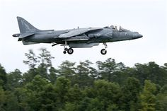 An AV-8B Harrier pilot with Marine Attack Training Squadron 203 prepares for landing at Marine Corps Air Station Cherry Point, N.C., Aug. 4, 2014. VMAT-203 is a training squadron at Cherry Point for naval aviators learning to fly the AV-8B.