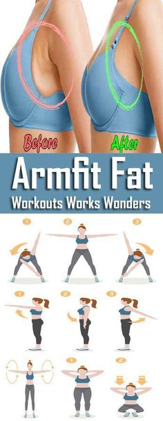 8 Best Exercises To Reduce Armpit Fat Quickly