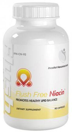 Flush Free Niacin Healthy Cholesterol Support Niacin 800mg Inositol 200mg 90 Capsules 1 Bottle