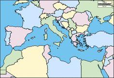 Mediterranean Sea: Free maps, free blank maps, free outline maps, free base maps