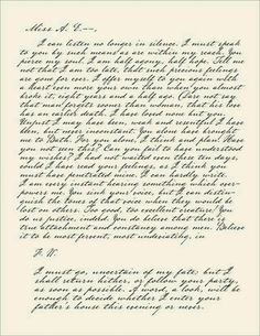 Captain Wentworth's letter to Anne