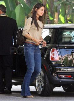 Katie Holmes Drives a Mini Cooper in Beverly Hills. She's been spotted zipping around town in her new ride! #katieholmes #minicooper