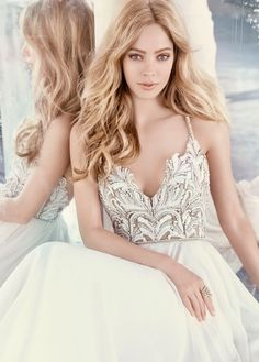 Beautiful embellished wedding dress by Hayley Paige Style 6609