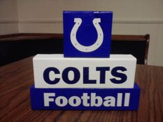 Colts Football Blocks painted by An Artistic Touch at  https://www.facebook.com/AnArtisticTouch