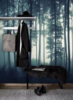 Binnenkijken bij tapetshow - Forest Wallpaper