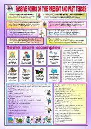 English teaching worksheets: Past tense