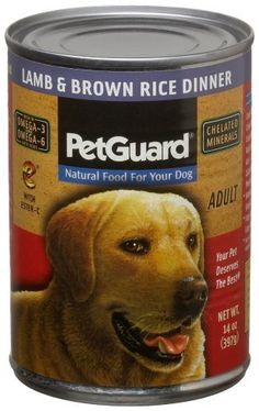 Pet Guard Lamb and Brown Rice Food for Dogs, 14-Ounce Cans by Pet Guard -- Click on the image for additional details. (This is an affiliate link and I receive a commission for the sales)