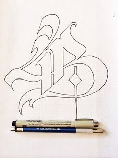 Cool outline for monogram Gothic Lettering, Graffiti Lettering Fonts, Chicano Lettering, Tattoo Lettering Fonts, Graffiti Alphabet, Creative Lettering, Lettering Styles, Lettering Design, Hand Lettering