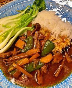 Biff med bambuskott i stark sås - Recept från myTaste Asian Recipes, Beef Recipes, Vegetarian Recipes, Cooking Recipes, Healthy Recipes, Ethnic Recipes, Healthy Food, I Love Food, A Food
