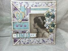 Til Linda I Card, Paper, Frame, Projects, Home Decor, Picture Frame, Log Projects, Blue Prints, Decoration Home