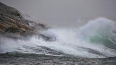 """Stormen """"Hilde"""" på besøk i Sauvika, Uthaug - STERK VIND: Vinden vil ta seg opp utover ettermiddagen. I natt kan ein få vindkast heilt opp i orkan styrke på utsette stader. - Foto: Brynhild Kjelsli /"""