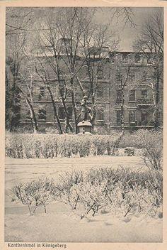 Postkarte, Königsberg, Kantdenkmal, unbeschrieben