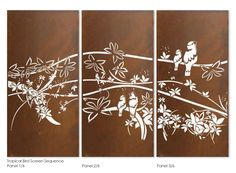 Garden screen sequence. Laser cut privacy screens