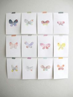 butterfly post-its