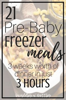 Pre-Baby Meal Prep- 21 Freezer Meals to Make. Make ahead meals to freeze for when baby arrives. Crock pot dump meals and freezer casseroles. meals make ahead crock pot Pre-Baby Meal Prep- 21 Freezer Meals to Make Make Ahead Freezer Meals, Crock Pot Freezer, Freezer Cooking, Freezer Recipes, Crockpot Meals, Meals Good For Freezing, Crock Pot Dump Meals, Freezer Dinner, Freezer Friendly Meals