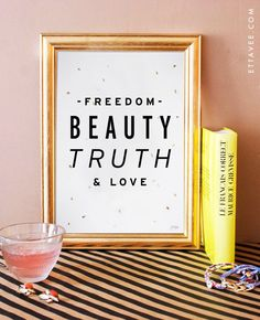 moulin rouge quote art print. freedom beauty by EttaVeeStudio, $19.00 Wall art