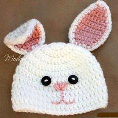 Шапочка *Зайка* с длинными ушками - 5 описаний - Crochet Modnoe Vyazanie
