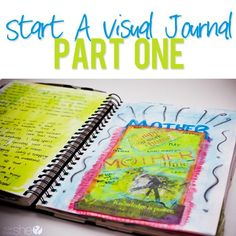 """Find yourself not writing in your journal as much anymore? Try a new refreshing journal technique called """"visual journaling"""" that will be a great expressive outlet for either you or your children!"""