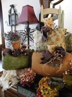 love these fabric pumpkins!
