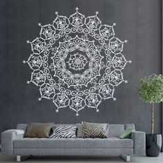 Bohemian Indian Pattern Mandala Wall Decals Floral Vinyl Stickers Yoga Art Ornament Design Interior Mural Removable Bedroom Home Decor AR400 by DecalHouse on Etsy https://www.etsy.com/listing/471085397/bohemian-indian-pattern-mandala-wall