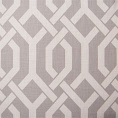 Grey geometric fabric