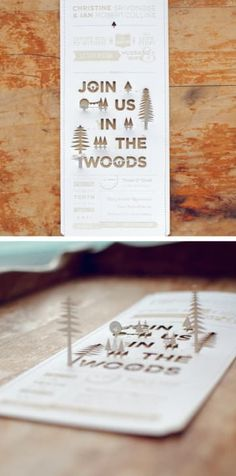 This groom spent hours using a laser cutter to ensure that each of these DIY invites was perfect. 19 Wedding Invitations That Deserved To Be Framed Forever Original Wedding Invitations, Diy Invitations, Wedding Invitation Design, Wedding Stationary, Wedding Paper, Diy Wedding, Rustic Wedding, Mauve Wedding, Wedding Album
