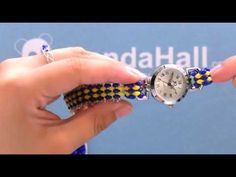 PandaHall Tutorial on Making Seed Beads Watch Bracelet Jewelry Making Tutorials, Video Tutorials, Beaded Watches, Beaded Bracelets Tutorial, Gift Coupons, Bare Foot Sandals, Blue Beads, Watch Bands, Seed Beads