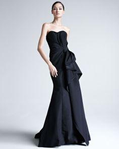 Carolina Herrera Faille Strapless Gown - Neiman Marcus