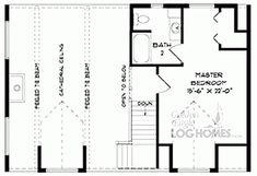 Golden Eagle Log Homes - Eagle 3 Second Floor Plan