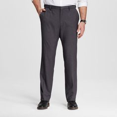 Men's Big & Tall Classic Fit Suit Pant Gray