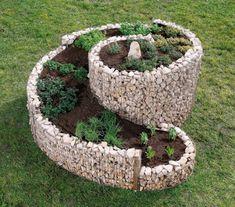 herb spiral I love spiral designs, especially in the garden - rueth Herb Garden, Garden Beds, Garden Art, Garden Design, Outdoor Projects, Garden Projects, Outdoor Decor, Gabion Retaining Wall, Backyard Patio