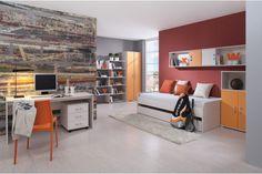 Funky Woodline creme Tmavooranžová / Funky Woodline Cream dark orange Corner Desk, Furniture, Design, Orange, Home Decor, Corner Table, Home Furnishings, Interior Design, Home Interiors