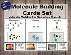 This set is designed as an introduction to molecular modeling for students of all ages. It includes 3-D images of the molecules as well as the 2-D graphic representation so that students can become familiar with building molecules without the 3-D visual aid.