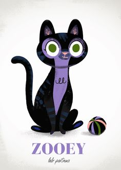 illustration, animal, cat, naive. By Lab Partners