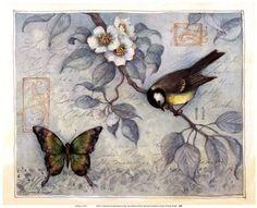 Blue Bird & Butterfly More Info    Susan Winget