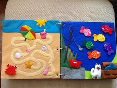 I love the beach maze in this busy book