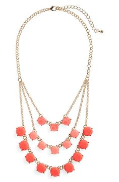 BP. Layered Round Stone Statement Necklace available at #Nordstrom