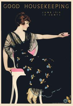Coles Phillips - Good Housekeeping Magazine cover (June 1916) Fadeaway girl